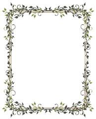 Rahmen, Blätter, Laub, Ranke, flora, filigran