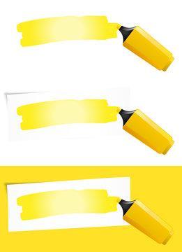 Yellow Felt Tip Pen