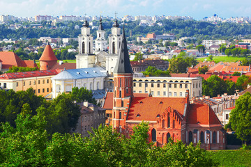 Fototapeten Osteuropa Old town in Kaunas