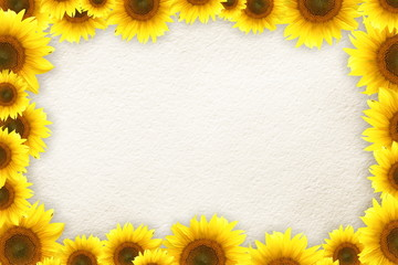 Sunflowers frame for your text