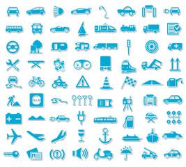 Blue Icon Set Traffic