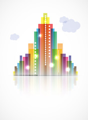 City Landscape abstract real estate vector background