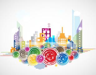 City Landscape real estate vector background