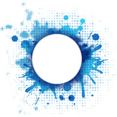 Abstract Blue Background With Blob And Bubble
