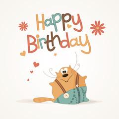 Cute happy birthday card.
