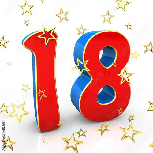 Quot 18 Years Old Happy Birthday Quot Stock Photo And Royalty