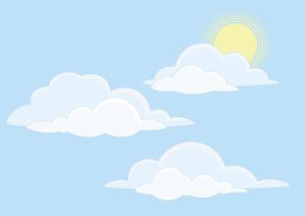 Photo sur Aluminium Ciel Sky with clouds