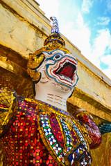 Thai art of monkey statue in Wat Phra Kaew