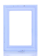 Wooden frame isolated on white.