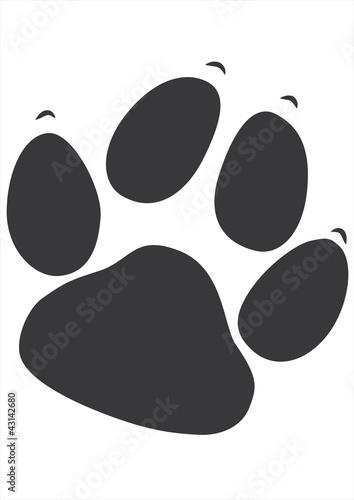 Stickdatei Hundepfote
