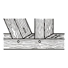 Holz ~ Leiste ~ Brett ~ Kantholz ~ Verbindung - Version I