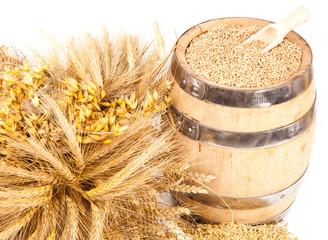 harvest grain barrel