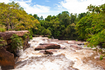 Khbail Chai waterfall #4, Sihanoukville, Cambodia