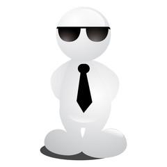 personnage lunettes noires