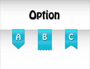 Option labels