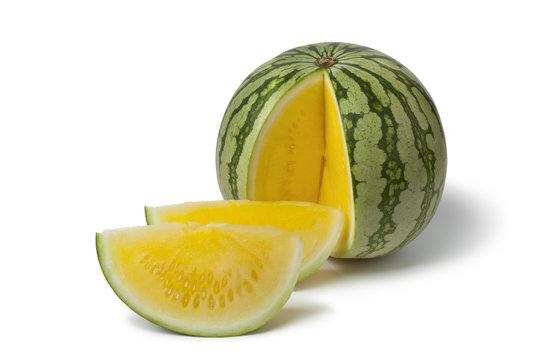 Seedless yellow watermelon
