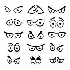 Set of cartoon eyes.