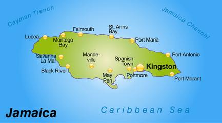 Karte von Jamaica