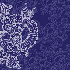 floral pattern on blue