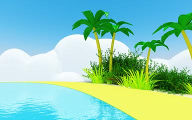 cute tropical coast
