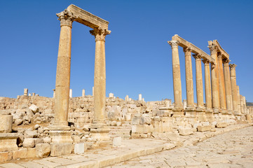 Archaeological site of Jerash (Jordan)