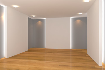 gray empty room