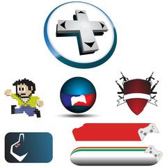Poster Pixel Logo video game