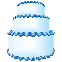 Three tiers of cake