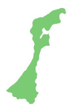 石川県の地図