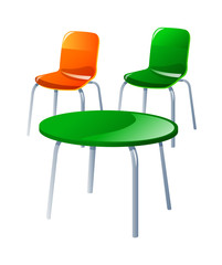 vector icon chair and table