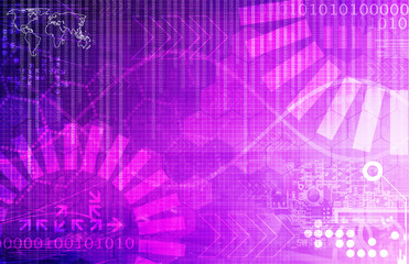 abstract background with purple technology