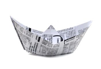 papier journal bateau origami