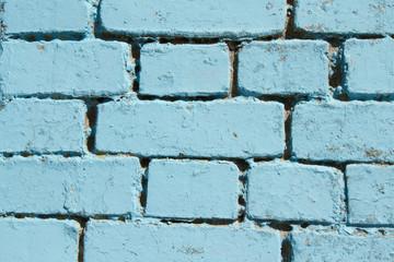 Blue bricks.
