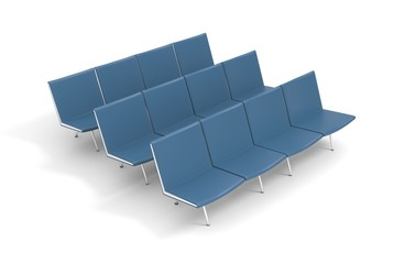 Empty isolated seats