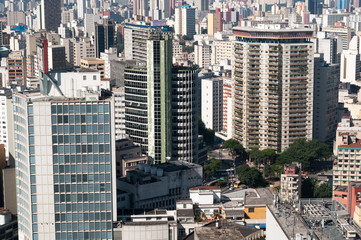 Aerial view of buildings in the city of sao paulo.