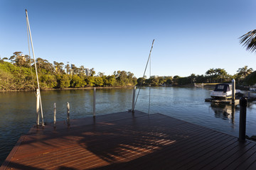 Waterfront deck