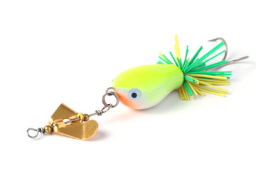 fishing lure with wind wheel.
