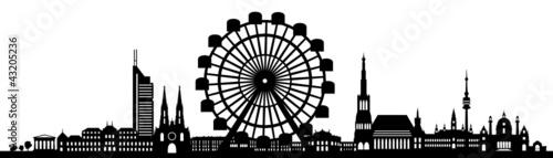 Wien skyline riesenrad stockfotos und lizenzfreie for Grafik praktikum wien