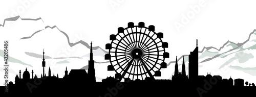 Wien skyline mit bergen stockfotos und lizenzfreie for Grafik praktikum wien