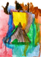 gemalter Hintergrund / Leinwand