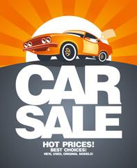 Car sale design template.