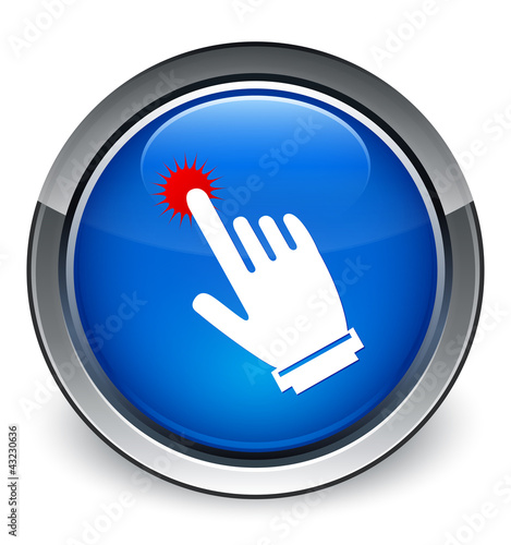 """""Click here hand cursor"" icon"" Stock image and royalty ..."