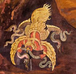 Wall art painting about Ramayana epic story