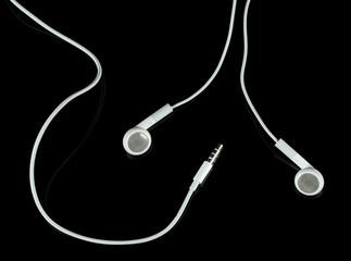 White headphones with plug