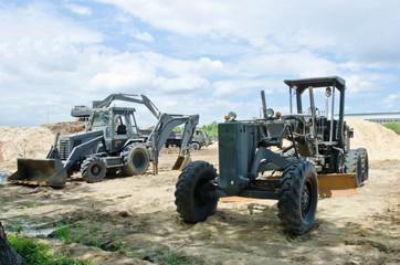 bulldozer at a construction