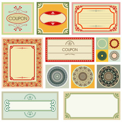 decorative cards and ornaments