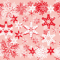 abstract vector background with snowflakes.