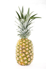 A fresh pineapple with white background