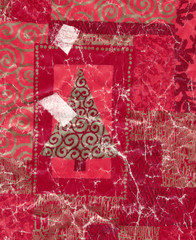 old christmas gift paper background