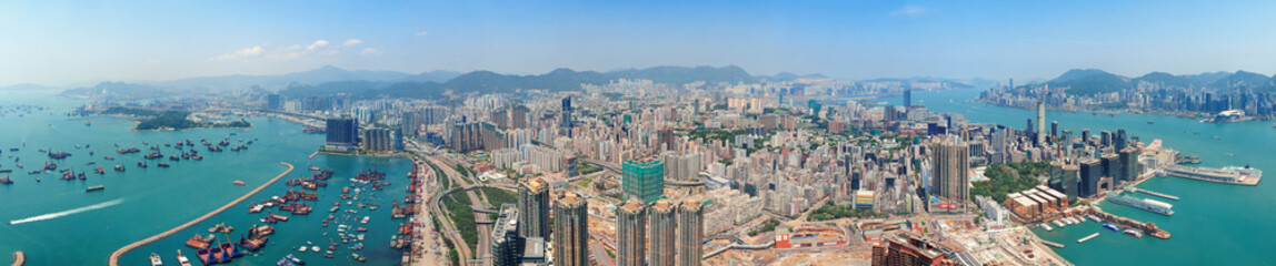 Wall Mural - Hong Kong aerial view